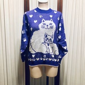 Cat Novelty Sweater Vintage